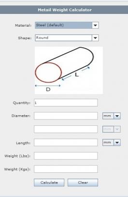Metal Weight Calculator App